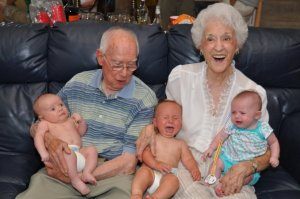 Grandma's first great-grandkids