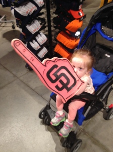 We hit the Padres team shop.