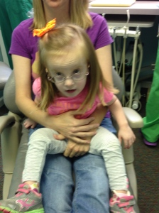 Big girl in the dentist chair!