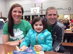 Charlie had a special lunch with Aunt Sarah and Muncle Mike at school to kick off March Madness!